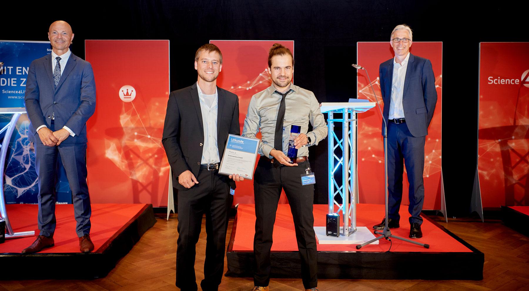 Businessplanwettbewerb für Life Sciences, Chemie und Energie, Science4Life Gewinner 2020